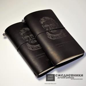 Записная книжка. Лазерная гравировка. Натуральная кожа